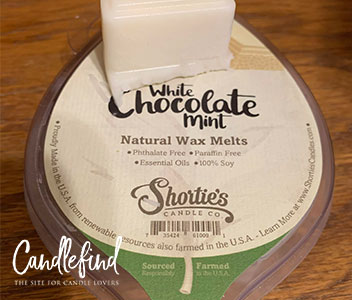 Shortie's Candle Co. White Chocolate Mint Wax Melt