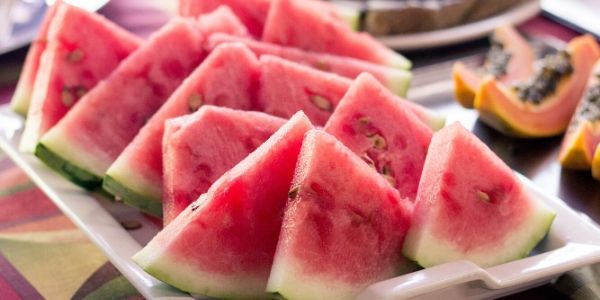 watermelon slices on plate