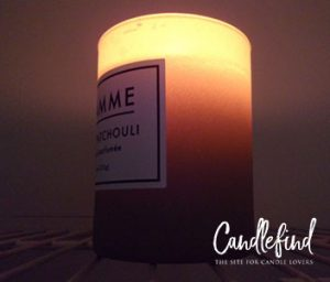 Pure Patchouli Flamme Candle Company burning candle