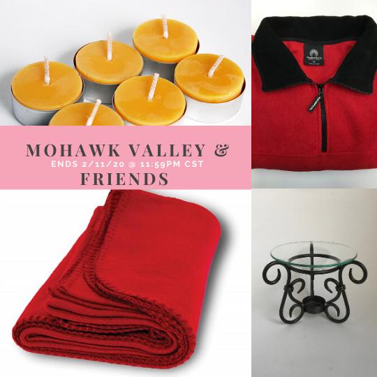 Mohawk Valley fleece blanket, fleece jacket, beeswax candle giveaway