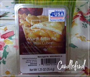 mainstays warm apple pie wax melts