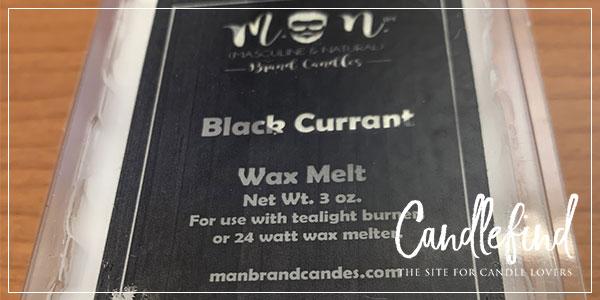 Man Candles Black Currant Wax Melts