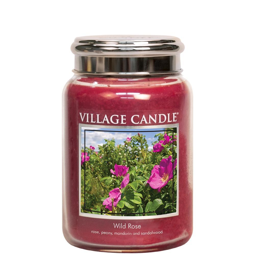 floral scented candle Wild Rose from Village Candle