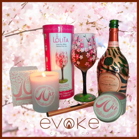 Aja Candle Lolita Wine Class Cherry Blossom Background