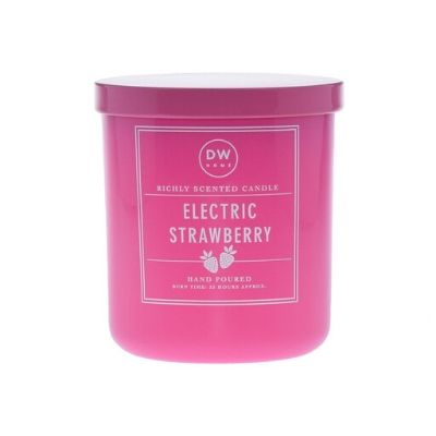Electric Strawberry Candle DW Home bright pink candle