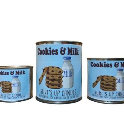 Surf's Up Candle Chocolate Chip Cookie scented candle Cookies & Milk Paint Can Candles