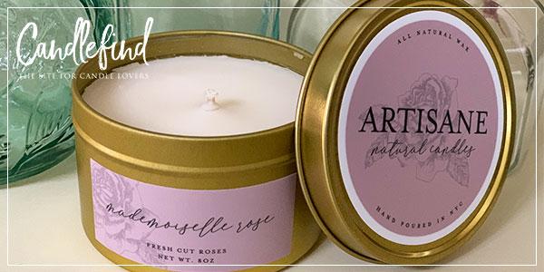 Artisane Fresh Cut Roses Candle