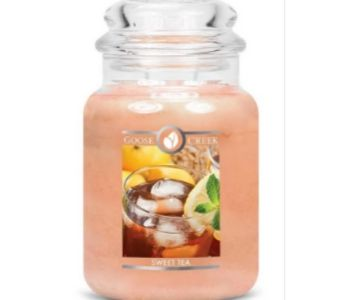 Sweet Tea large jar apothecary candle from Goose Creek Candles