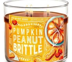 Pumpkin Peanut Brittle candle Bath & Body Works