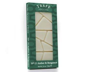 trapp fragrances amber & bergamot wax melts