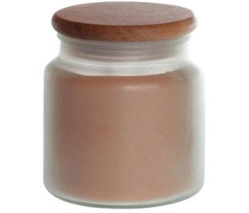 pumpkin pie brown candle with wooden lid from pure integrity