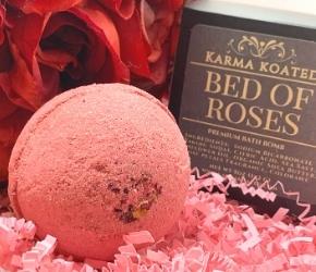 Karma Koated Bed of Roses Bath Bomb