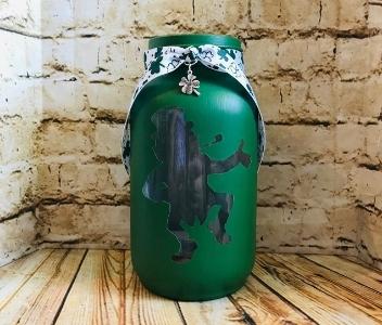 Shamrock Mason Jar from DMK Creations