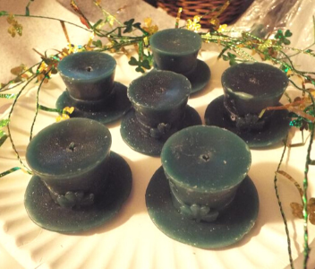 Shamrock Top Hat Votives from Dee's Northern Scents
