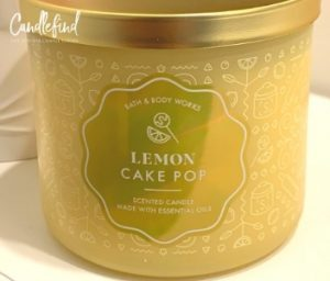 B&BW Lemon Cake Pop Candle