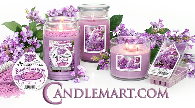 Candlemart lilac candles and wax melts