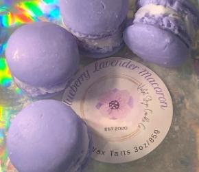 Violet Skye Candle Co Blueberry Lavender Macaron Wax Tarts