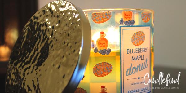 Kringle Blueberry Maple Donut Candle