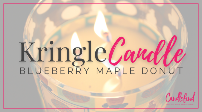 Kringle Blueberry Maple Donut Candle Review