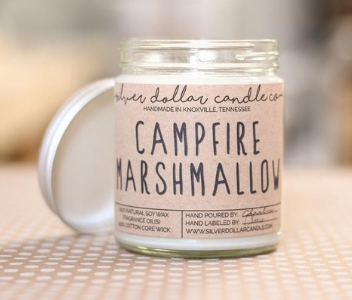 Silver Dollar Candle Company Campfire Marshmallow Candle