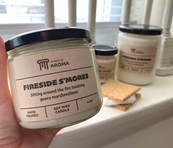 When In Aroma, Fireside S'mores Candle