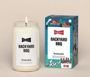 Homesick + Budweiser Backyard BBQ Candle