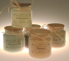 SpringHouse Candle Review, Candlefind.com, the site for candle lovers