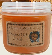 Banana Nut Bread scented candle review, Village Kitchen Collection scented candle review, Candlefind.com, the site for candle lovers