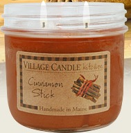 Village Candle, Kitchen collection, cinnamon stick scented candle review, Candlefind.com, the site for candle lovers
