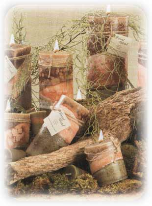 Forest Blend scented candles from Wicks n More, Candlefind.com, the site for candle lovers
