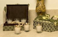 Cashmere scented votives from Wicks n More's Social Lite collection