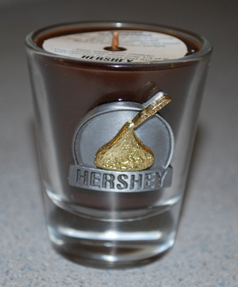 Hershey's Kiss scented candle from Stormy Mountain Candle Co