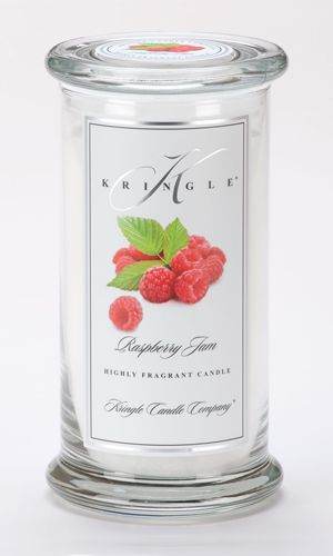 Raspberry Jam scented candle from Kringle Candle Co