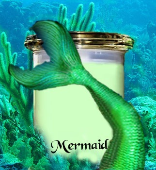 Mermaid scented candle review from Wickit Good Candle Co