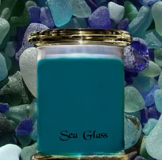 Sea Glass scented candle review from Wickit Good Candle Co