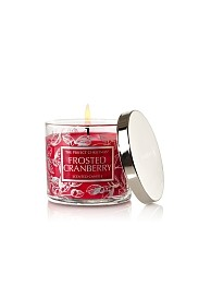 Frosted Cranberry scented candle review from Bath & Body Works, Candlefind.com, the site for candle lovers