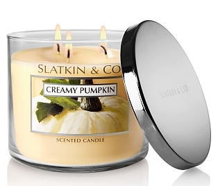 Creamy Pupkin scented candle from Slatkin & Co