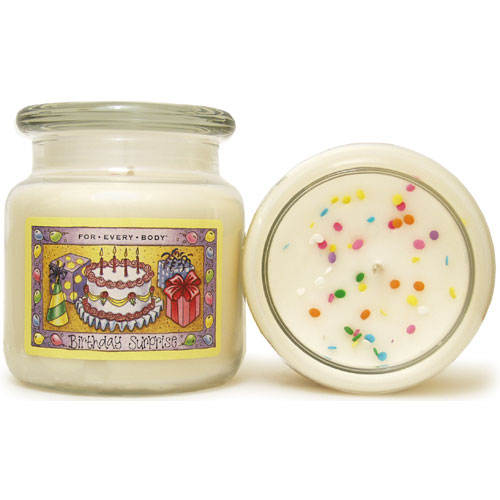 For Every Body Candles review, Birthday Surprise candle, Candlefind.com, the site for candle lovers