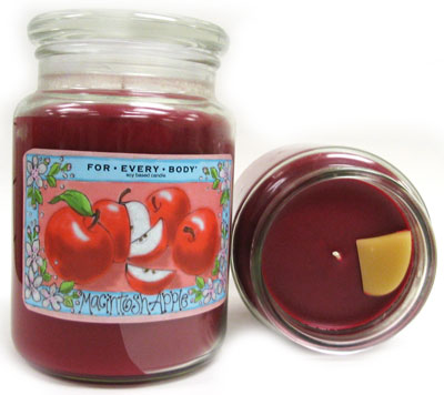For Every Body candle review, Macintosh Apple scented candle review, Candlefind.com, the site for candle lovers