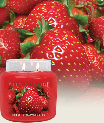 Village Candles Fresh Strawberries scented candle review