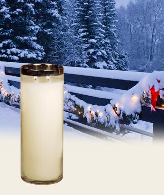 Winter Wonderland Décor pillars from Village Candle