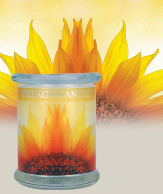 Review of Mardarin Sunflower Radiance Wood Wick Candle from Village Candle