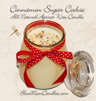 Cinnamon Sugar Cookie from Blue Moon Candles, Our BIG sugar cookie scented candle review, Candlefind.com, the site for candle lovers