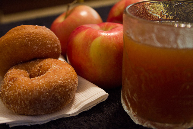 spooky blend of scary spider apple cider and deadly cinnamon donuts ...