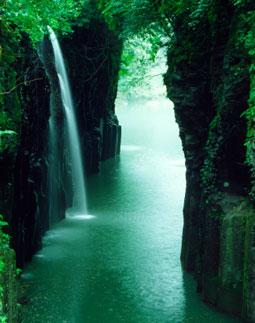 Tahiti Tropical Waterfall