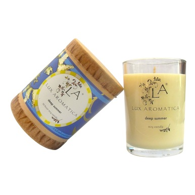 Lux Aromatica luxury candle review - Deep Summer