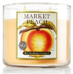 Market Peach scented candle from Bath & Body Works review