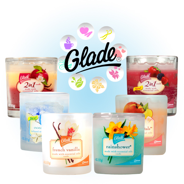 Glade scented candles