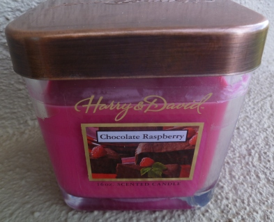 Chocolate Raspberry scented candle from Harry & David