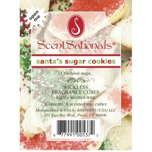Santa's Sugar Cookies - Scentsationals Wickless Candles